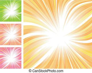 schöne , glühen, abstrakt, vektor, hintergrund