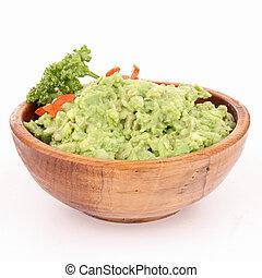 schüssel, guacamole