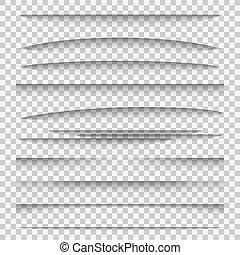 Schattenteiler. Line Paper Design Panel Schatteneffekte Divider Webpage Randvorlage Tabs Gruppe, Web Frame Elemente