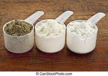 schaufeln, protein, pulver