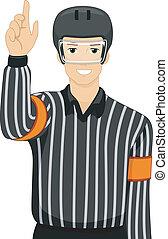 schiedsrichter, hockey, eis