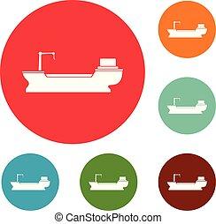 Schiffsfracht-Icons setzen Vektor.