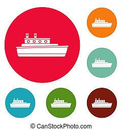 Schiffsreise-Icons sind gesetzt.