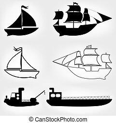 Schiffssymbole bereit.