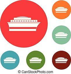 Schiffssymbole setzen Vektor.