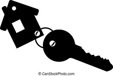 Schlüsselanhänger mit Schlüssel