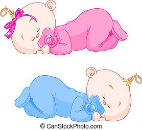 Schlafende Babys