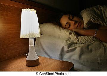 Schlaffrau, Lampe