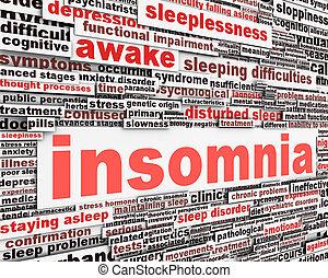 Schlaflosigkeitsbotschaft