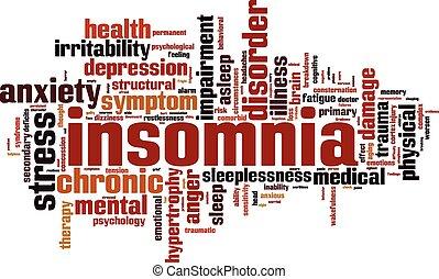 Schlaflosigkeitswortwolke