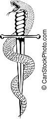 Schlange und Dolch