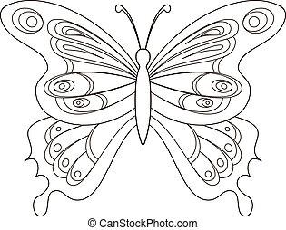 Schmetterling, Konturen
