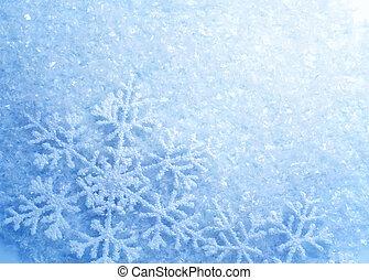 Schneeflocken. Winterschnee Hintergrund. Weihnachten