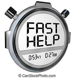 Schnelle Hilfe für die Kundenunterstützung, Stoppuhr-Uhr