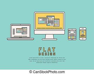 schnittstelle, design, benutzer