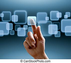 schnittstelle, touchscreen