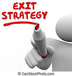 schreiben kugelschreiber, planung, ausgang, wörter, markierung, strategie, mann