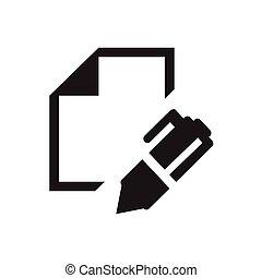 schreibende, ikone