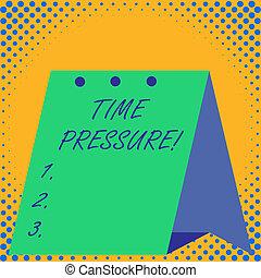 Schreibt Textzeitdruck. Konzept bedeutet, dass Dinge in weniger Zeit erledigt werden, als benötigt oder gewünscht.