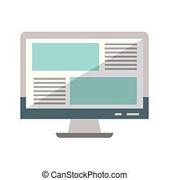 Schreibtisch Computer durch das Internet isoliert.