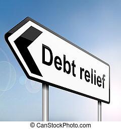 Schuldenerleichterungskonzept.