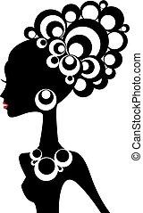 Schwarze Frau, Vektor