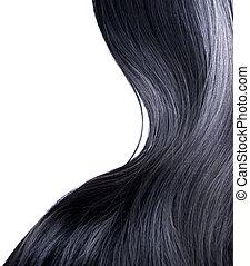 Schwarze Haare über weiß