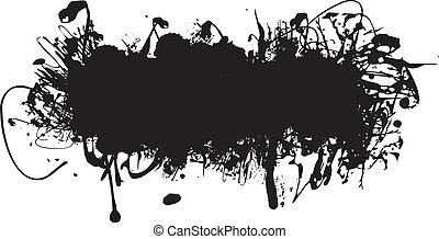 Schwarzer Tintenfleck