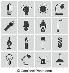 Schwarzlicht-Icons eingestellt.