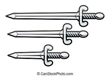 Schwert und Dolch - Vektor
