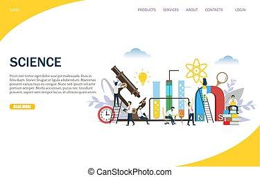 Science Vektor Website Landing Page Design Vorlage