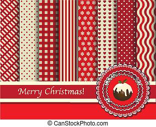 scrapbooking, weihnachten, rotes , creme