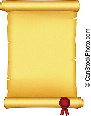 Scroll mit rotem Wachssiegel