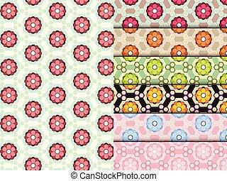 Seamless Blumenmuster farbenfroher Vektor