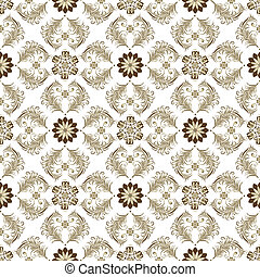 Seamless Brown-White Vintage Muster