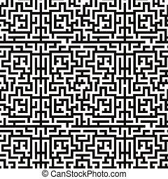 seamless, muster, hintergrund, abbildung, labyrinth, labyrinth
