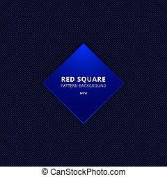 seamless, quadrat, blauer hintergrund, muster, abstrakt, schwarz, umrandungen