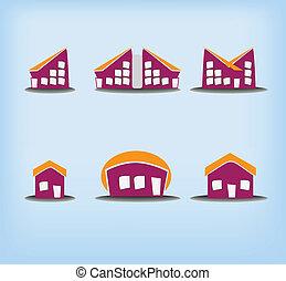 Sechs Häuser sind unterschiedlich