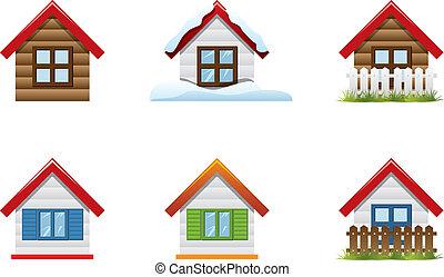Sechs Haus-Ikone