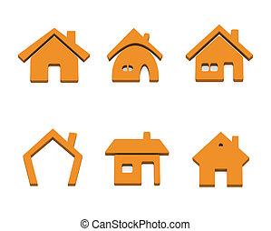 Sechs Haus-Ikonen