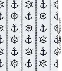 Seeloses nautisches Muster