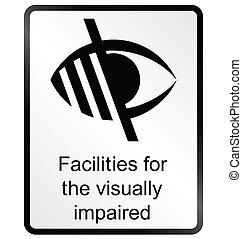 Sehbehindertes Informationszeichen.