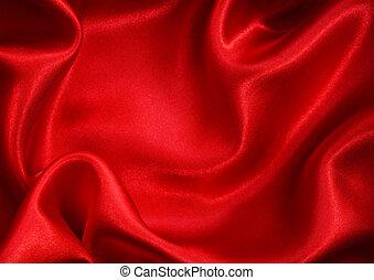 seide, glatt, hintergrund, rotes