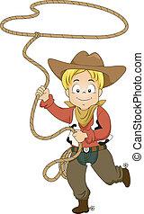 seil, kind, cowboy