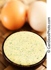 Selbstgemachte Mayonnaise.