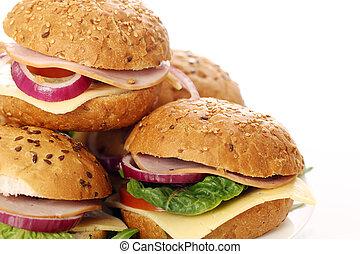 Selbstgemachte Sandwiches