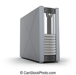 Server-Fall auf weiß