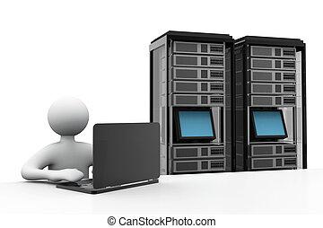 Server-Netzwerk-Konzept.