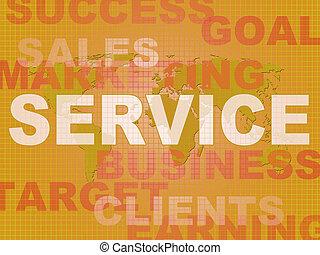 Service- oder Dienstleistungskonzept-Icon zeigt Beratung oder Hilfe für Kunden - 3D Illustration