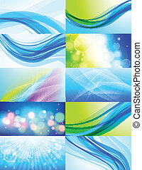 Set von 10 abstrakten Vektoren